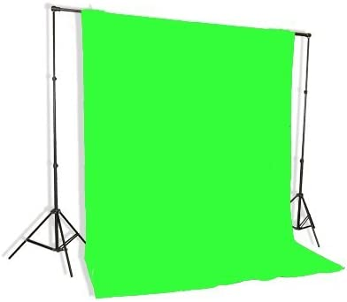 Background Stand Backdrop Support System Kit With 6ft X 9ft Chromakey Green Screen Muslin Backdrop By Fancierstudio 9115 6x9g