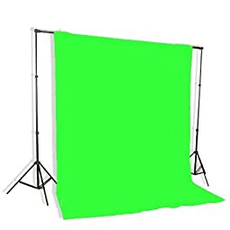 Background Stand Backdrop Support System Kit With 6ft x 9ft Chromakey Green Muslin Backdrop By Fancierstudio 9115+6x9G