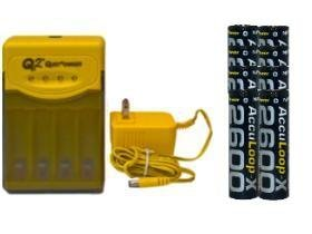Quest Q2 Smart Charger & 8 Aa 2600 Mah Nimh Acculoop-X Batteries (Low Discharge)