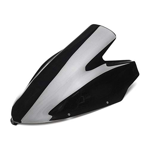 Sala-Ctr - Motorcycle Windshield Windscreen Wind Deflectors Double Bubble for Kawasaki Ninja 650R ER-6F 2006 2007 2008