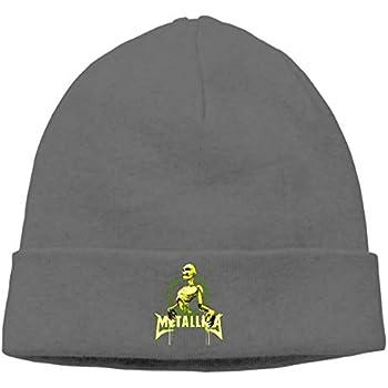 DADAJINN Mens   Womens METALLICA Skull Beanie Hats Winter Knitted Caps Soft  Warm Ski Hat Deep Heather 8e3c9de13a5a