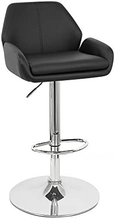 Set of 2 Tesla Contemporary Leather Adjustable Barstool
