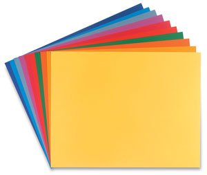 Canson Mi-Teintes Drawing Sheets, 19 x 25 Inches, Assorted Bright Colors, 10 Sheets