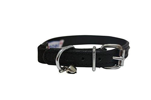 Image of Leather Elastic Break-Away Cat Collar (Alpine). 12