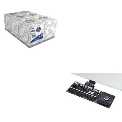 KITFEL8036101KIM21271 - Value Kit - Fellowes Professional Executive Adjustable Keyboard Tray (FEL8036101) and KIMBERLY CLARK KLEENEX White Facial Tissue (KIM21271)