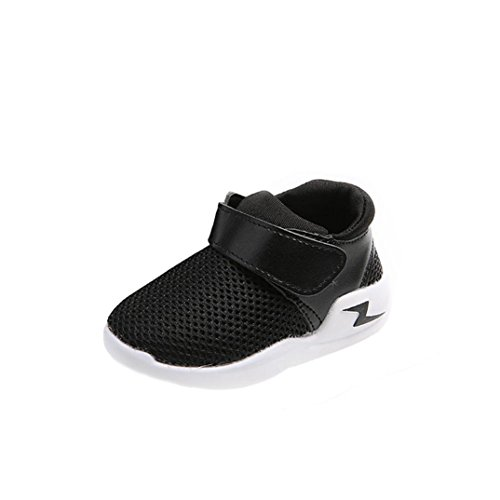 Clode® Neue Art und Weisebaby beiläufige Turnschuhe Sport Schuhe im Freien laufende Schuhe Schwarz