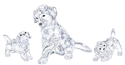 Swarovski Crystal 3-Piece Labrador Family - Mother (#5399004), Playing Puppy (#5408608), Standing Puppy (#5400141) ()