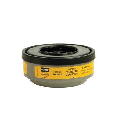 Honeywell N75003L North Cartridge, Organic Vapor/Acid Gas