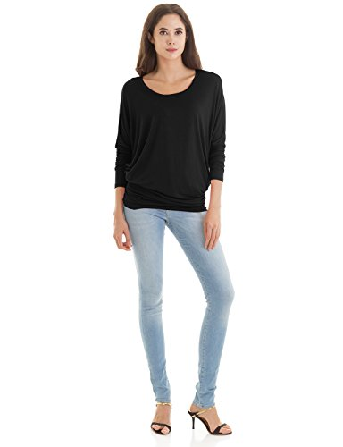H2H Womens Casual T-Shirts Loose Fit Long Sleeve Dolman Stylish Knit Sweater Top