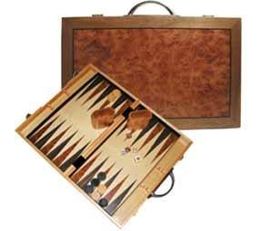 Burlwood Backgammon Board Game, 18