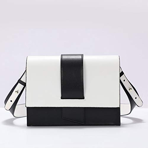 Petit Spell Bandoulière White Baachang Femme Sac Hit Cuir Black À Black Color color En Pour Fashion Carré Main PwwxF1