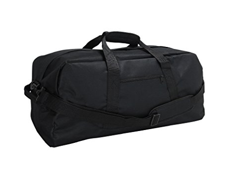 DALIX 21' Large Duffle Bag with Adjustable Strap (Black)