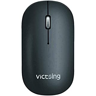 VicTsing Bluetooth Wireless Mouse, Connect 3 Devices(Dual Bluetooth & USB), Slim Silent Mouse- Reduce 90% Click Noise, 5 DPI High Accuracy USB Mouse for Laptop Windows Mac OS Android