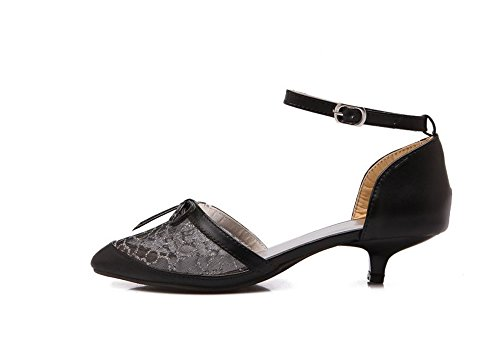 - Women Elegant High Heels Female Summer Net Yarn Hollow Pointed High Heels (Black35/4 B(M) US Women)