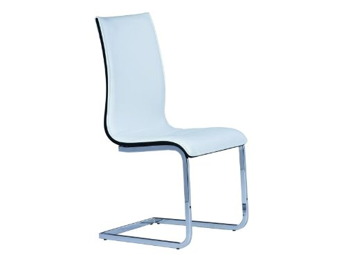 39 sedia cantilever per sala da pranzo cucina sedia rion in similpelle bianca nero cromo sedie - Sedia cantilever ...