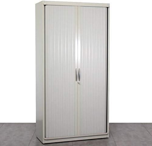 Steelcase Armario de Oficina de Persiana, Llave y de Estructura Metálica, con Dos Puertas, persiana metálica, Puertas correderas: Amazon.es: Hogar