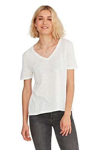 's Lightweight 100% Cotton Loose Casual V- Neck Short Sleeve Cotton T-Shirt ()
