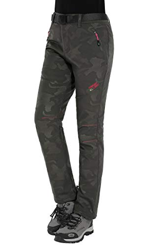 da 02 Pantaloni Alpinismo Trekking Donna Invernali Sci Montagna Impermeabili Pantaloni Softshell Escursionismo Verde HAINES g0xRwHqq