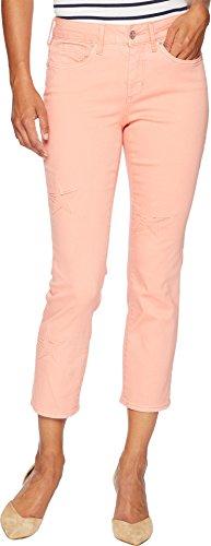 NYDJ Women's Petite Size Sheri Ankle Laser Cut Starfish Jean, Pale Desert Flower, 6P