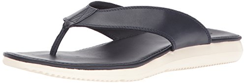 Cole Haan Flip Flops - Cole Haan Men's Bristol Leather Sandal Flip-Flop, Navy Leather, 8 Medium US
