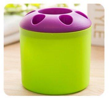lautechco® multiusos poroso escritorio contenedor de pluma cepillo de dientes pasta de dientes titular organizador almacenamiento barril: Amazon.es: Hogar