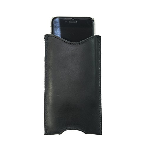 Durable Leather iPhone 6 Sleeve Handmade by Hide & Drink :: Charcoal Black