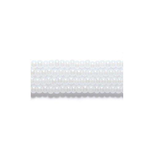 Preciosa Ornela Czech Seed Bead, Pearl White, Size 10/0 ()