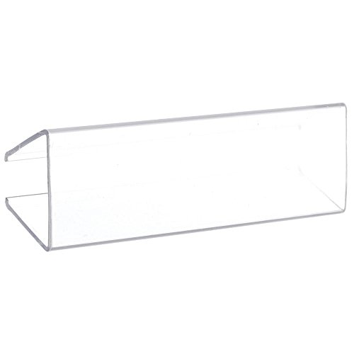 Clear Wood Shelf Label Holder, 3 1/8'' x 7/8'' (W x H), 25 per bag, Made to fit 5/8'' to 3/4'' thick wood shelves by Retail Resource