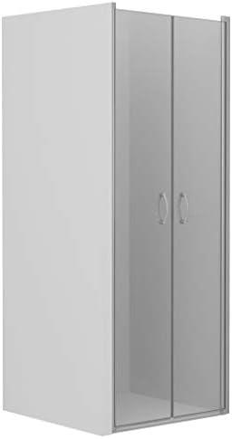 vidaXL Mampara Ducha Frontal 2 Puertas Pivotante Cristal Seguridad Vidrio Templado ESG Aluminio Cabina Baño Transparente Cierre Plato Bañera 85x185 cm: Amazon.es: Hogar