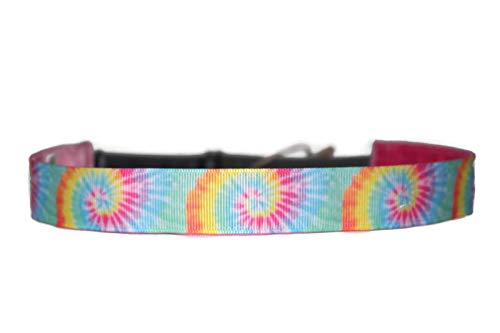 BEACHGIRL Bands Handmade Non Slip Adjustable Headband Hair Band For Women & Girls Pastel Tiedye