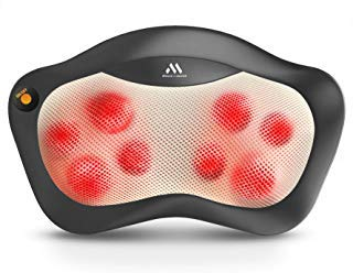Shiatsu Neck and Back Massager - 8 Heated Rollers Kneading Massage Pillow for Shoulders, Lower Back, Calf, Legs, Foot - Relaxation Gifts for Men, Women - Shoulder and Neck Massager Present for Wife by MagicMakers