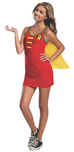 Rubie's DC Comics Justice League Superhero Style Teen Dress with Cape Robin, Red, Medium Costume -