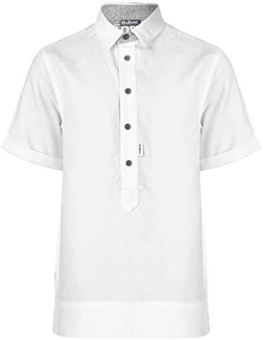 GULLIVER - Camisa de manga corta para niño, diseño de 10 14 años, 140 y 164 cm, color blanco: Amazon.es: Ropa y accesorios