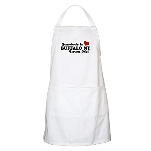 CafePress Somebody in Buffalo NY Loves Me BBQ Apron Kitchen Apron with Pockets, Grilling Apron, Baking Apron
