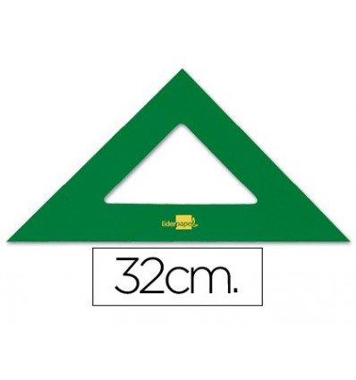 Liderpapel-Squadra acrilico verde 32 cm (Confezione da 10)
