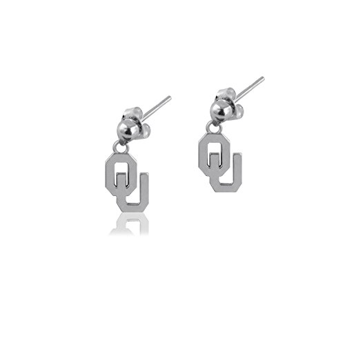 University of Oklahoma Sooners OU Sterling Silver Jewelry by Dayna Designs (Post Dangle Earrings) (Oklahoma Sooners Silver Sterling Ring)