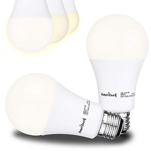 AmeriLuck 4000K Cool White 3-Way LED Light Bulb A19, 50-75-100W Equivalent, CRI80+, Omni-Directional (2 Pack)
