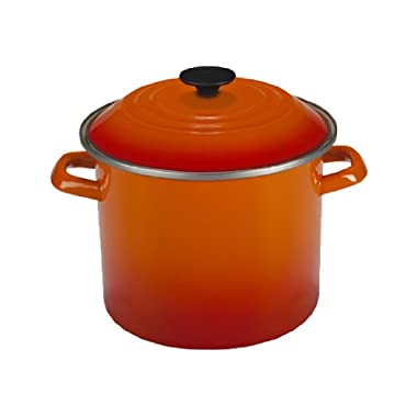 Le Creuset Enamel-on-Steel 8-Quart Covered Stockpot, Flame