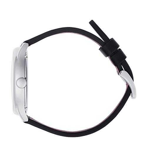 Ice-Watch – ICE tid svart silver – armbandsur för män med läderrem – 013042 (stor)