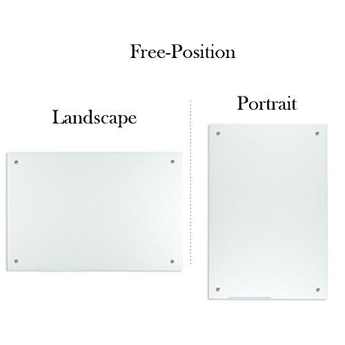 Lockways Glass Dry Erase Board – Ultra Whiteboard / White board 36 x 24, Frameless, Clear marker tray, For Office, Home, School by Lockways (Image #1)