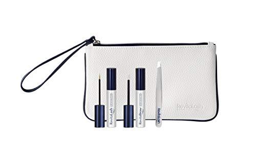 RevitaLash Cosmetics, Travel Set/RevitaLash Advanced 1.0mL, RevitaBrow Advanced 1.5mL & Precision Tweezers