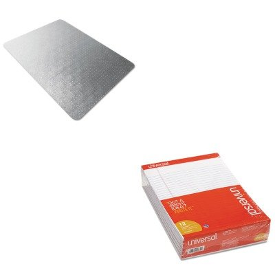 KITFLR118923ERUNV20630 - Value Kit - Floortex Cleartex Ultimat Polycarbonate Chair Mat for Carpet (FLR118923ER) and Universal Perforated Edge Writing Pad (UNV20630) by Floortex