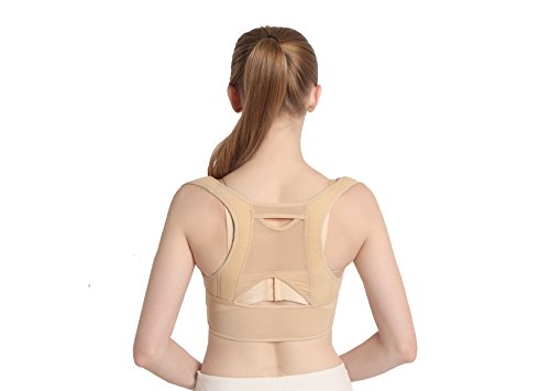Posture Corrector BY TIANFEI Strap Vest for Female/Women Chest Brace Up Shape Corrector Hunchback Correction Resistance Band Beige (US-L(29.5- 33.46 inches)) (Top Men Tank Bad Boy)