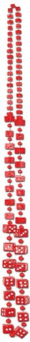Dice Beads (red) Party Accessory  (1 count) (1/Card) for $<!--$5.79-->