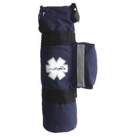 LINE2design Oxygen Cylinder Sleeve Bag - with Star of Life Logo, Side Pocket, Navy