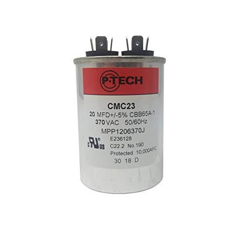 P-Tech USA - AC Motor Run Capacitor - 20MFD 370VAC - ()