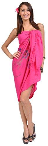 Maillot Bain 1 Rose Femme Motif Sarong Fluo World À Robe Pour De rYFwYIq