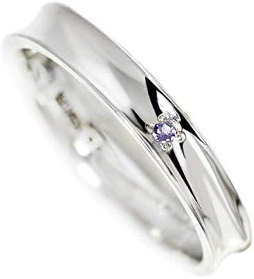 リング 指輪 内側 ブルー ダイヤモンド 刻印 可能 シルバー925 誕生石 コンプリート 1個