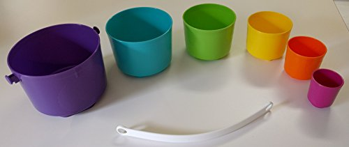 Tupperware Tote-Em Pails Toy Set