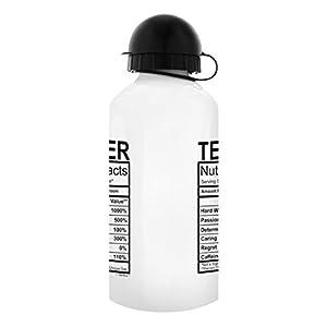 Teacher Gifts for Women Teacher Water Bottle Nutritional Facts Best Teacher Gifts for Teachers Gift Aluminum Water Bottle with Cap & Sport Top Teacher